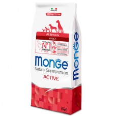 MONGE ALL BREEDS ADULT ACTIVE CON POLLO 12 KG